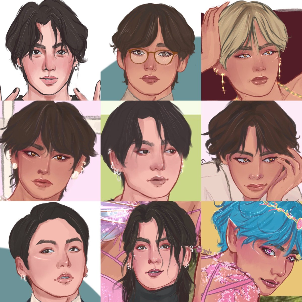 RT @lovingityeah: A taekook pretty faces overload for the #faceyourartchallenge #faceyourart #taekook #btsfanart https://t.co/mhDjvCI40A