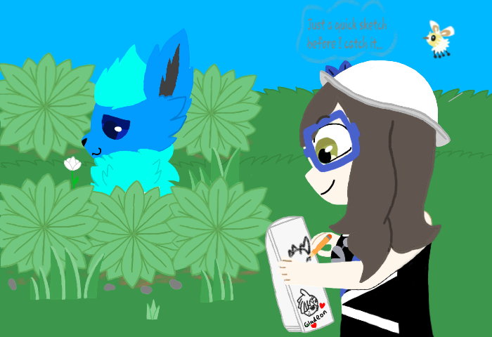 I'm posting this late, but this was my first Art Fight attack for 2020!  The characters belong to Daniwolf9005!(on Art Fight, Deviantart, etc.)  The characters are Dani the Flareon, and Dani the Pokemon Trainer  [Also I Finally Posted Something Here! :D] pic.twitter.com/ZPQ0mjIbSw