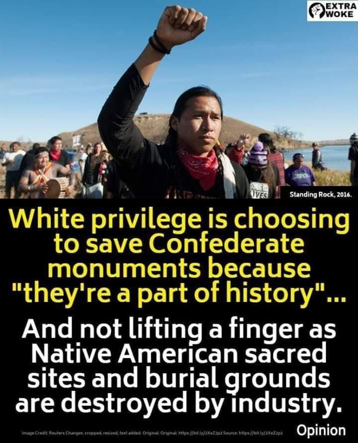 I don't think this is white privilege. I think it's something different, it's been around for a long time. Lets call it what it is. White oppression. The British went all over the world destroying everything, remember who settled the US. #WhitePrivilege #NativeAmerican pic.twitter.com/6E5rtDJ52y