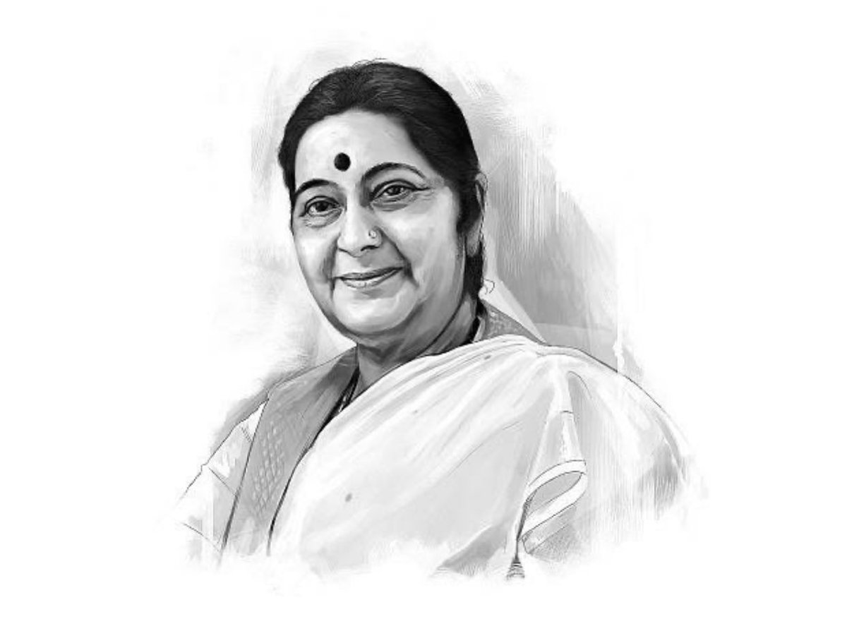 Tributes To #Maa For A a lot Of Indians Like Me On Her Punyatithi. ⁦@SushmaSwaraj⁩  शत नमन pic.twitter.com/j5lAwe3beW