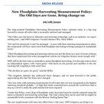 Image for the Tweet beginning: NSWIC Media Release: New Floodplain