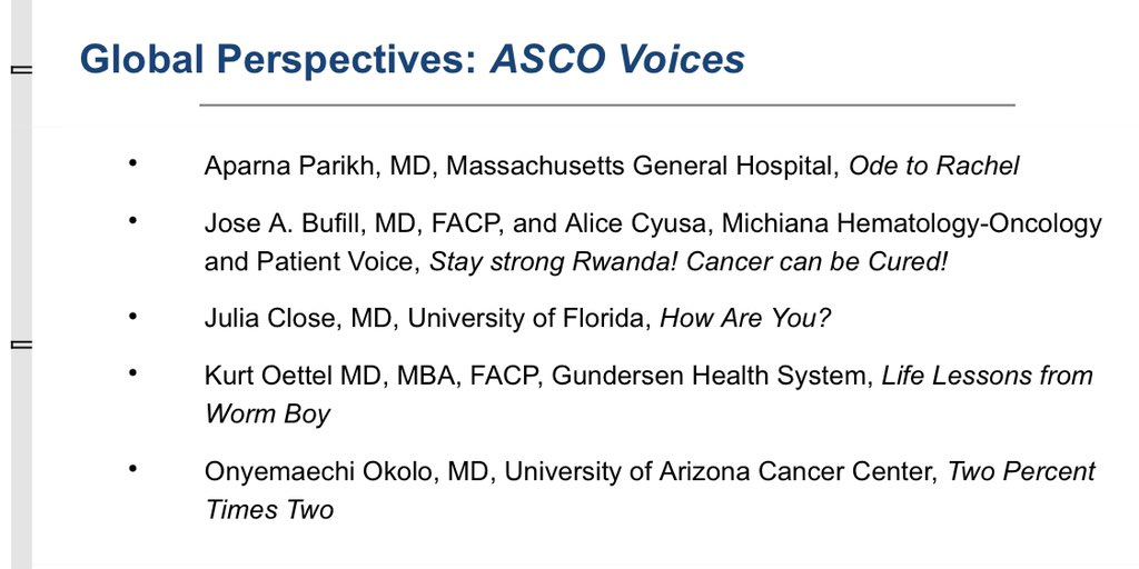 "Totally not a science talk but excited/nervous to give my dear friend , oncologist extraordinare, Rachel Pearline a voice on the @ASCO ""podium"" this weekend (a dream of hers). miss her. think of her everyday. Will share link to her farewell video post talk @HemoncUcsf"