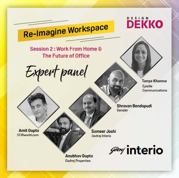 Make your work-from-home desk as productive and socially-connected as your office desk in session #2 of @DesignDekko's Re-imagine Workspace - Work From Home & The Future of Office. Let's create workspaces that will help us in #EmergingStronger. Register on https://t.co/FXzvf8wfAI https://t.co/8kSkJztO1F