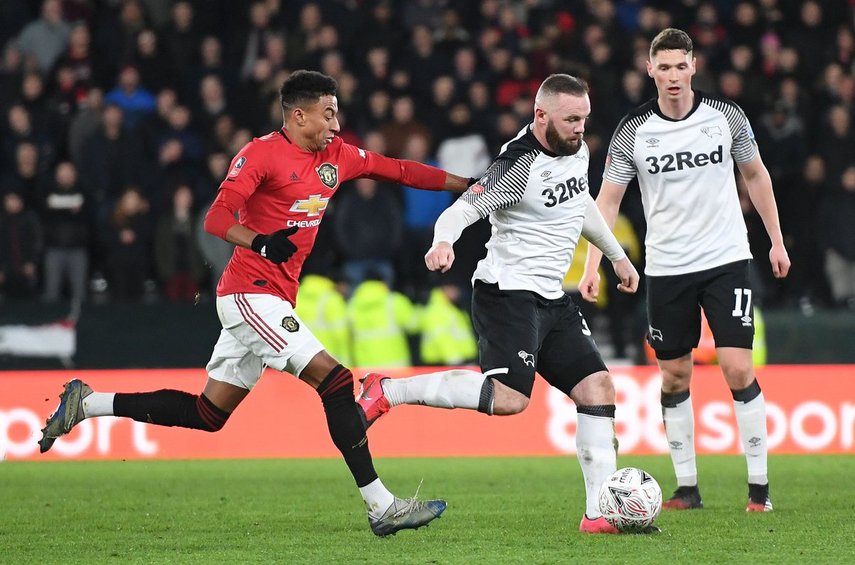 Manchester United legend @WayneRooney hosted his old club in the #EmiratesFACup fifth round as @DCFCOfficial captain 🐏