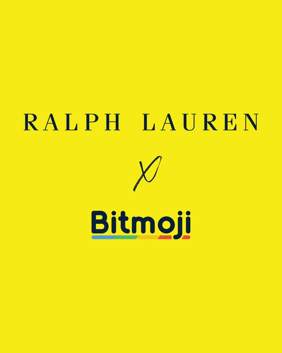 A global exclusive. Ralph Lauren and @Snapchat have joined forces to introduce the first-ever customizable Ralph Lauren wardrobe for @Bitmoji   Create your own #RLBitmojiLooks on Snapchat: https://t.co/ALX0x1Khl8  #RLBitmoji https://t.co/3fVSBg3ltV