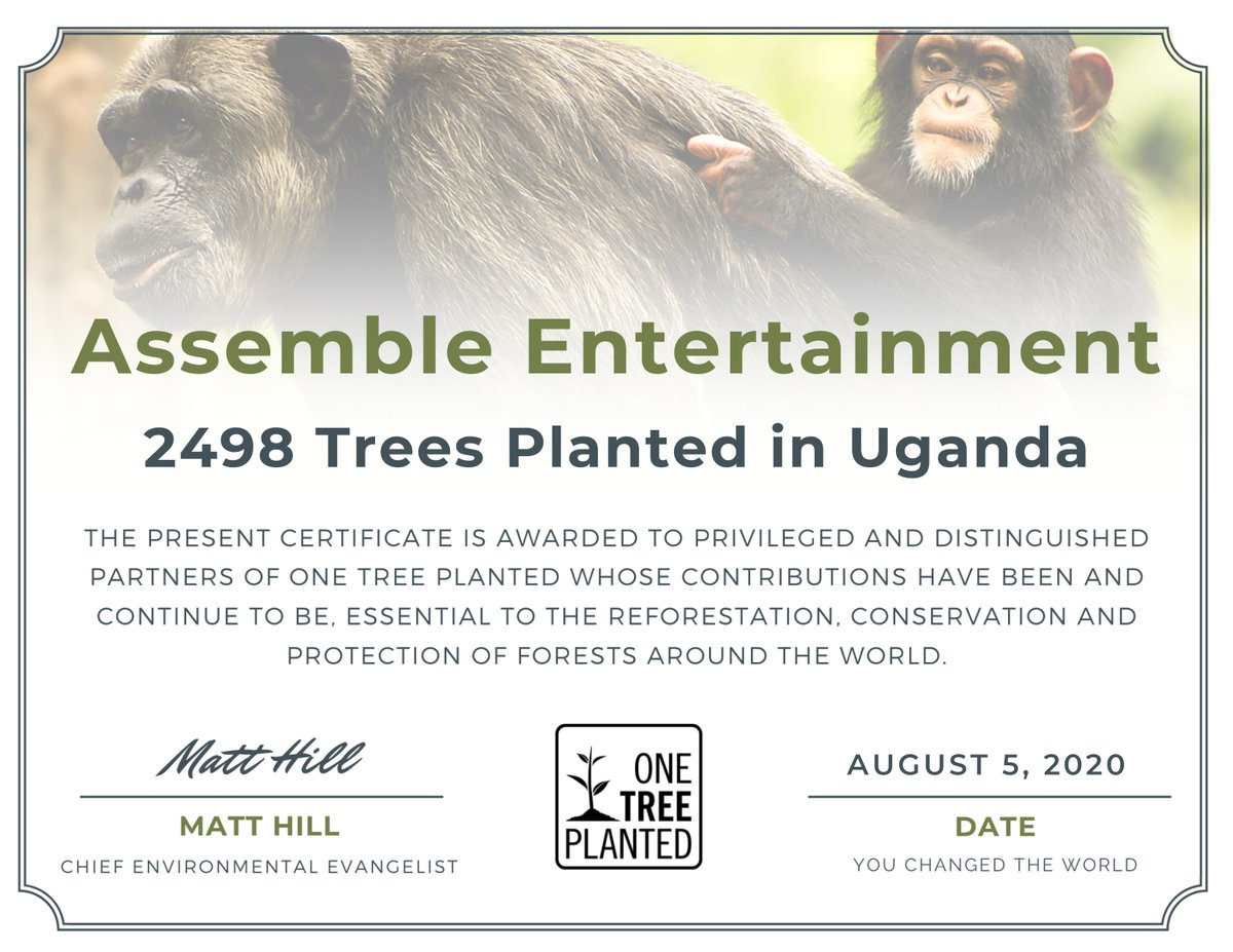 "Survivors! Thanks to our great community we just planted 2.498 trees, this time in Uganda!  For every sold unit of the ""Save The World"" Edition of @WorldOfEndzone @Steam we are planting one tree!@onetreeplanted #assembleteam #worldofendzone #gogreen #SavetheWorld #plantatreepic.twitter.com/sZRbmBU9UF"