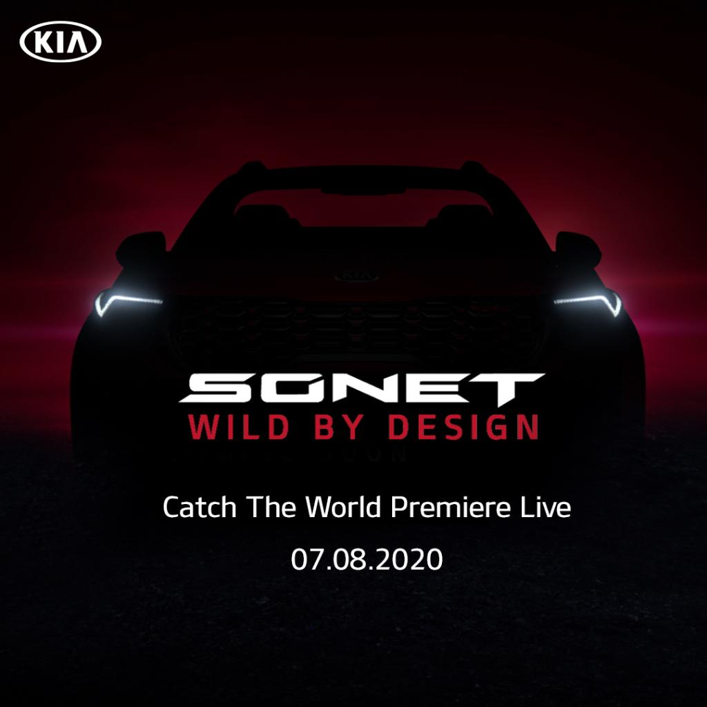 Tune in for the #WorldPremiere of Kia's new addition. The all-new Kia Sonet will be unleashed at 12:00 pm IST on August 7th.  #KiaSonet #SonetComingSoon #Kia https://t.co/yvfcdLYmjT