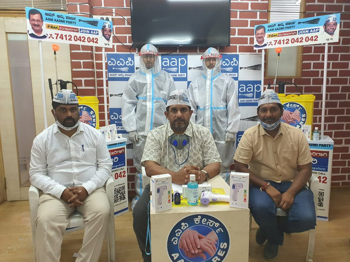 @AamAadmiParty Karnataka launches #AAPCares a volunteer led initiative to help citizens and control the spread of the corona pandemic @ArvindKejriwal, @aapkaprithvi