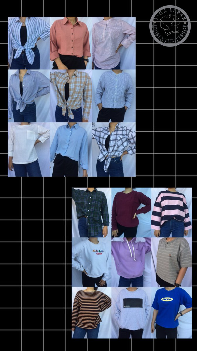Untuk di shopee kita belum di up semua ya ka.  Ini link shopee nya : https://shopee.co.id/santosajhunianatha?smtt=0.0.9…  . #TigaLapak  #Thrift #Thrifting #Thriftshop #Unisex #UnisexThrifting #Preloved #ootd #ootdThrift #ThriftShopPreloved #Vintage #VintageThrift #Fashion  #secondpic.twitter.com/I7wTmTfoC5