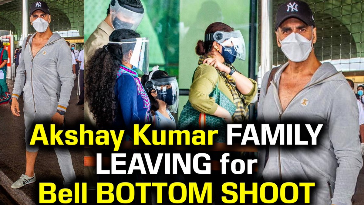 Akshay Kumar with family SPOTTED at Airport Leaving for SCOTLAND for Bell Bottom Movie Shoot |VIDEO #AkshayKumar #BellBottom #Scotland #akshaykumarbellbottom #bellbottomshooting #twinklekhanna #HumaQureshi #nitara #aarav  CLICK HERE TO WATCH VIDEO https://www.youtube.com/watch?v=36IgZJl8yVk…pic.twitter.com/boiT1yqslj