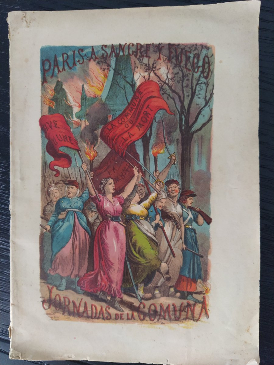 Today I turn 37 🥳 Look at this outstanding present I got. A book by Luis Carreras about the Paris Commune and the repression, printed in 1871 soon after its collapse.