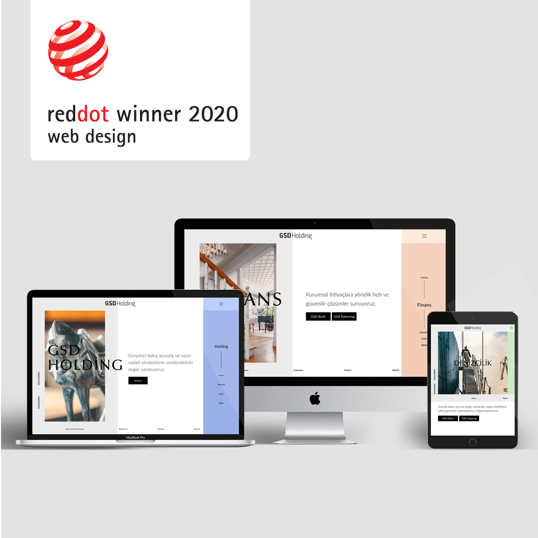 We are 'reddot 2020 winner'. Our web design for GSD Holding has won the prize in the Brands and Communication Design category.  @reddot #reddot_communicationdesign #Webdesign #AwardWinning @GSDHolding http://www.gsdholding.com  http://www.design-insitu.com pic.twitter.com/ag5jWz2QxE