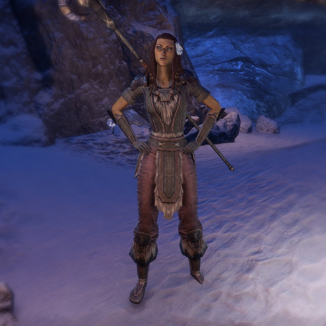 Hi yes I'm making characters tonight apparently and this is Nyri Rose she is ...probably from Grahtwood? She was born in Summerset and her parents came to Grahtwood when she was a baby and died when she was a toddler, so she was raised by Wood Elves & is convinced she is one.pic.twitter.com/aM7CGBjgqu