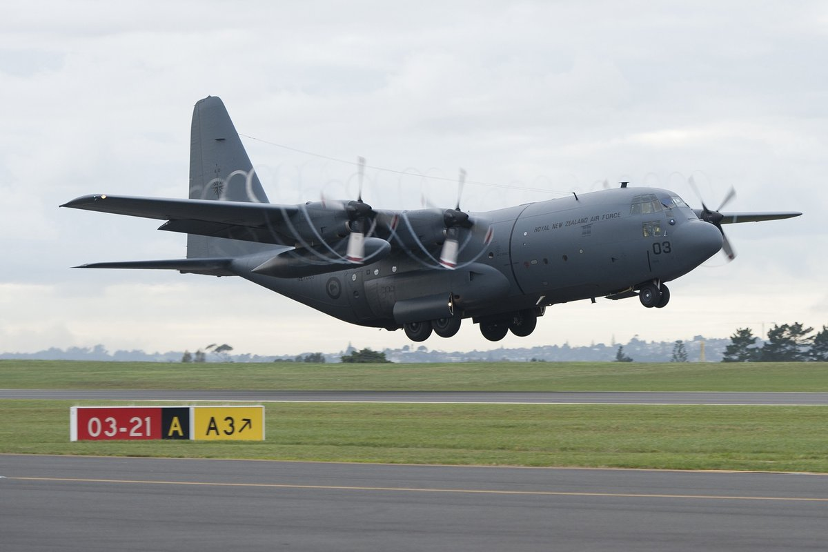 NOTICE // #ChristchurchResidents Please be aware that a service funeral is being held at the Air Force Museum at Wigram on Fri 7 Aug 2-3.30pm. There may be a single flypast over the Museum by a @NZAirForce C130H Hercules aircraft at the end of the service. 📷: @NZDefenceForce