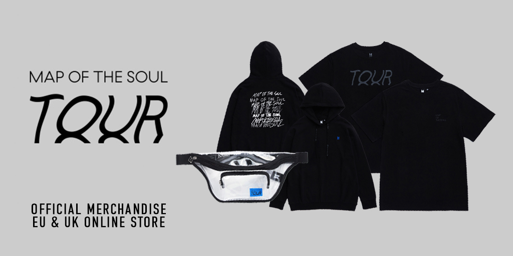 📢 #BTS MAP OF THE SOUL TOUR  EU & UK Official Merch is now available. The collection is online from August 6 – August 20. @bts_bighit   Shop Now  👉 https://t.co/XshvrRYdTK https://t.co/GZyZzynNGX