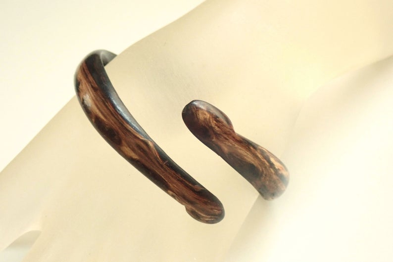 Antique Carved Briar Wood Snake Bangle Bracelet ✫ Edwardian ✫ http://etsy.me/2Q4DXsX GrandVintageFinerypic.twitter.com/qvkzK2UmAL
