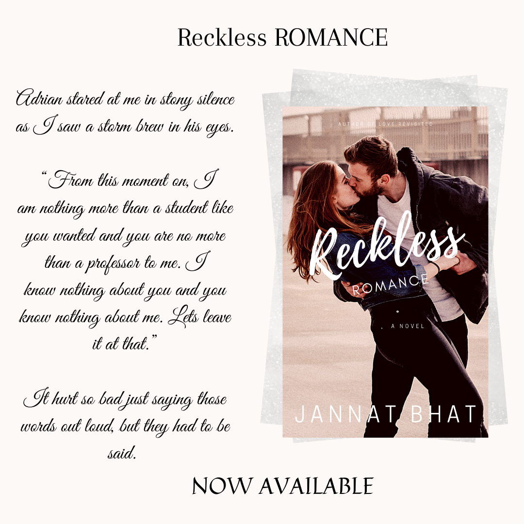 Read for free on Kindle Unlimited! Reckless ROMANCE. Now Available!   Links In bio.  #RecklessRomance #Contemporary #Romance #Review #Amazon #KU #KindleUnlimited #Fiction #NewAdult #YoungAdult #YA #NA #JannatBhat #Suspence #thriller #lovestorypic.twitter.com/DomCWXp5LZ