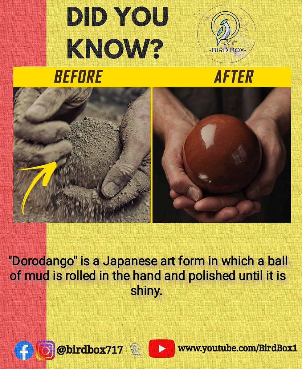Interesting facts . Follow us for awesome daily facts @birdbox717 . #factsonfacts #facts #real #japan #people #japanese #art #artist #artworks #amazing #dorodango #beautiful #beauty #didyouknowfacts #didyouknowthat #gk #daily #trending #knowledgeispower #knowledgefactorypic.twitter.com/8WxGBQZz6g