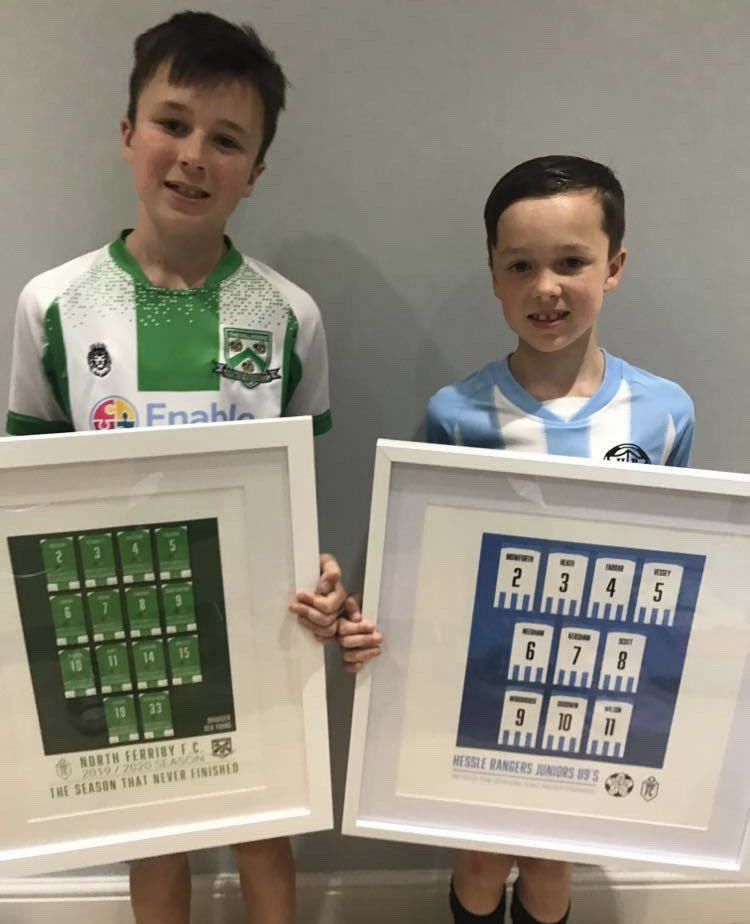 We love this photo of brothers, Joe and Tom, with their personalised squad prints    Best of luck for the forthcoming season, boys! #AwardsFC pic.twitter.com/pIuT1cPHFZ