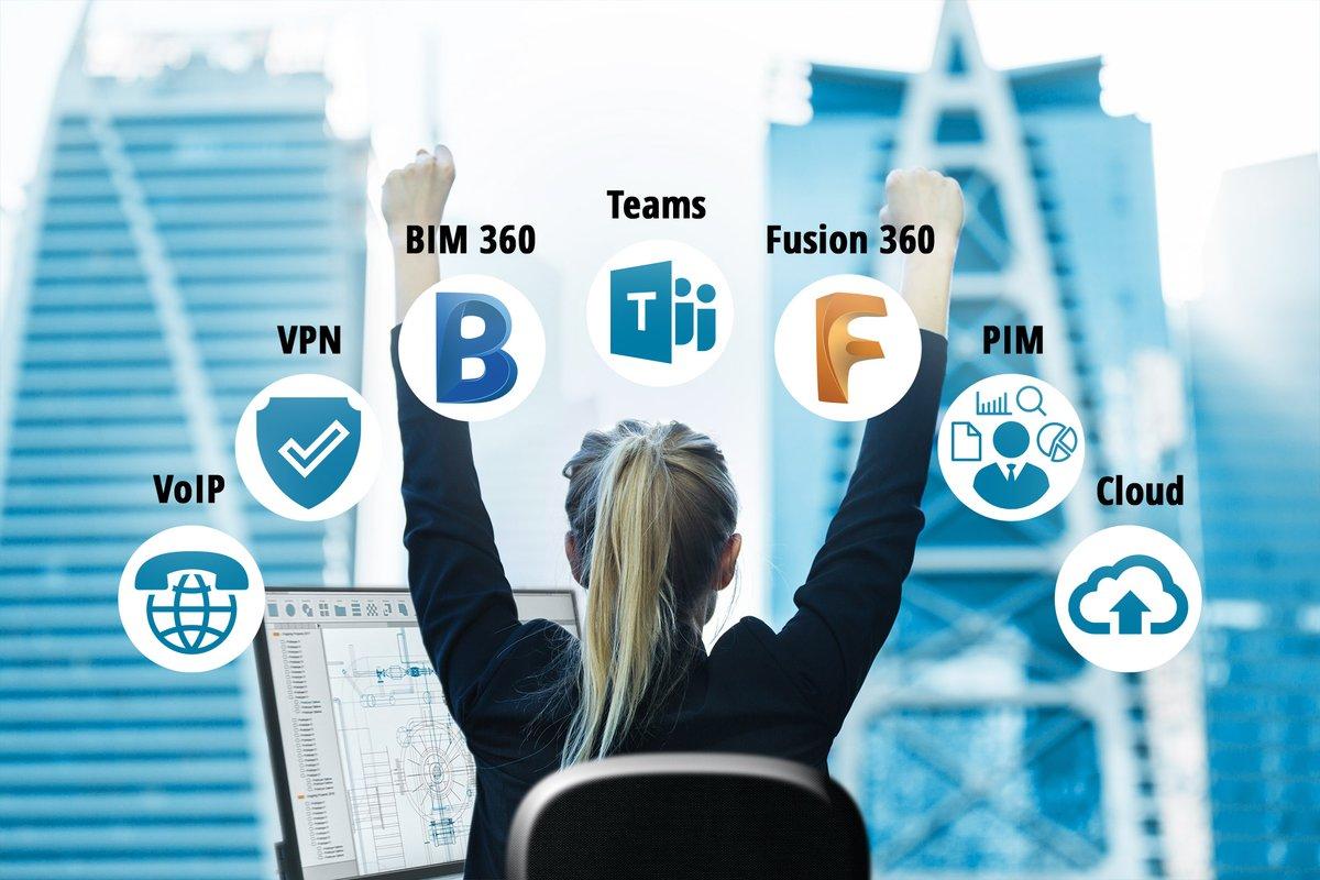 Met tools zoals Autodesk Fusion en Autodesk BIM 360 werkt u flexibel en probleemloos thuis – of waar dan ook – aan uw projecten. Business ON. Meer weten over samenwerken op afstand? Bel 073 750 6 750 of bezoek onze website.  http://ow.ly/mkP450AnVhJpic.twitter.com/aO4BEwegfy