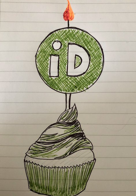 ORCID iD drawing of cupcake