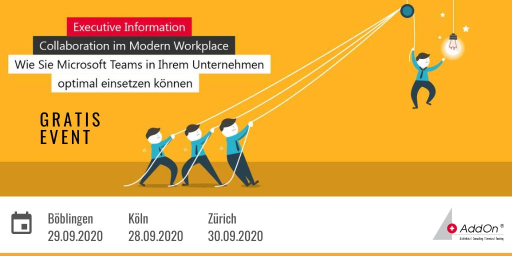 Gratis-Event! #Collaboration im #ModernWorkplace. Erfahren Sie von unserem #Microsoft Experten Uwe Grohne, wie #msteams optimal eingesetzt werden kann und erhalten Sie wertvolle Tipps zur Einführung, Datenmigration und Datensicherheit. Jetzt anmelden! http://bit.ly/EIM35-DEpic.twitter.com/l7tNf6YNWh