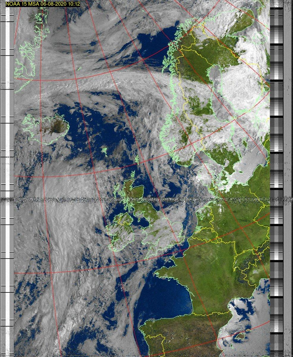 Wetter Satellit: NOAA 15 06-08-2020 10:12. Elevation maximal: 39 Grad. #NOAA #weather #noaasatellite #clima #wxtoimg #rtlsdr #raspberrypi #germany #wetterpic.twitter.com/GjFbg3sWrZ