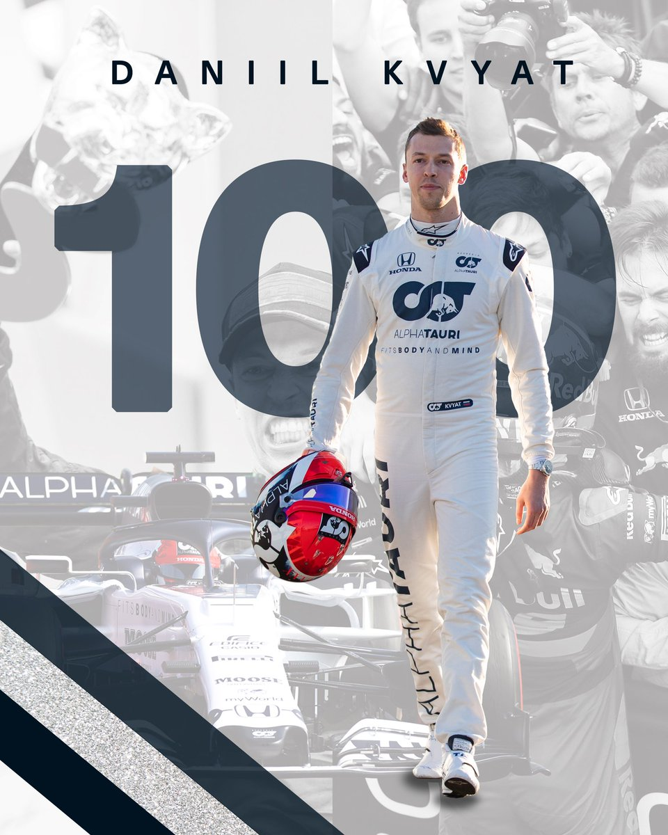 Dany notches up a century of @f1 races this weekend! 👏   The #F170 GP will be @kvyatofficial's 100th race in Formula 1, having made his debut in Australia 2014 at just 19! 👊 ⁣ ⁣⁣⁣ #AlphaTauri #F1 https://t.co/Vk6KUrAnib