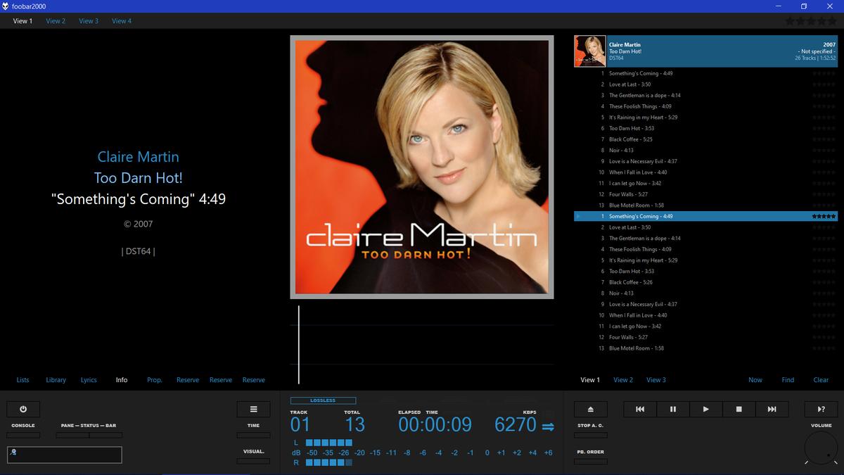 < < < 走向 超值 免費 而 極緻 的 HI-FI 電腦 訊源  > > >  #Foobar  Foobar ( Wasapi Mode & Full Memory Buffering ) #PC_Audio  PC Streaming At => 32Bit / 384kHz ( Foobar UpScaled ) https://www.youtube.com/watch?v=EQNrJjXSwGo… Claire Martin - Too Darn Hot  (SACD)pic.twitter.com/CTeBcnHk75