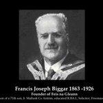 Image for the Tweet beginning: Clár ar Francis Joseph Biggar