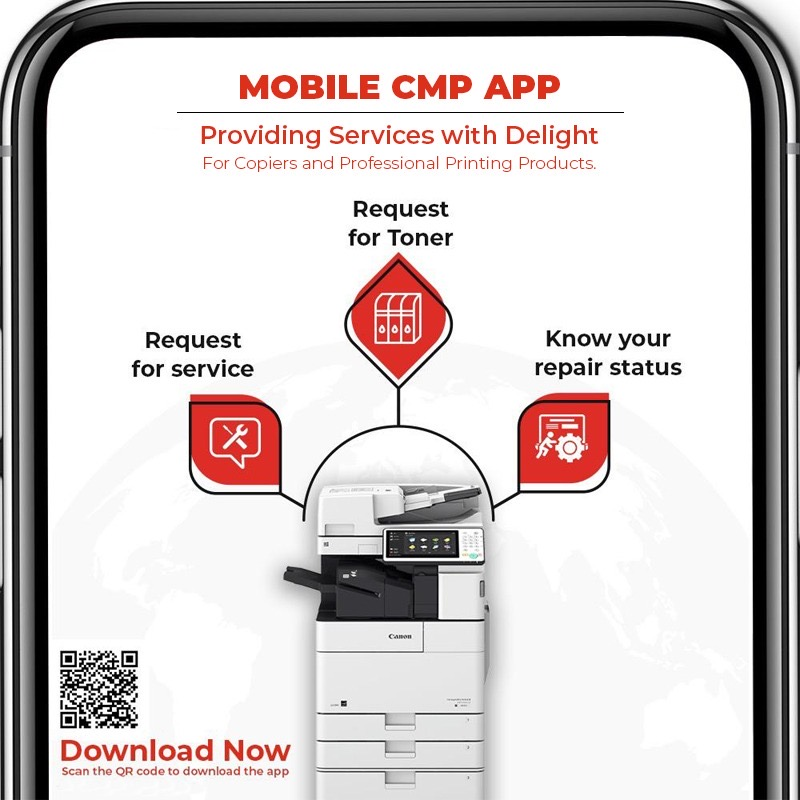 Introducing Mobile CMP. One App, many advantages - book service request, track status, view contract details, and much more. Download the App today!  Android: https://t.co/IoE2CtTJD1  IOS: https://t.co/8LuEDBBHEp  #MobileCMPApp #CanonService #App #ServiceaAndSupport https://t.co/JuW6C74uzw