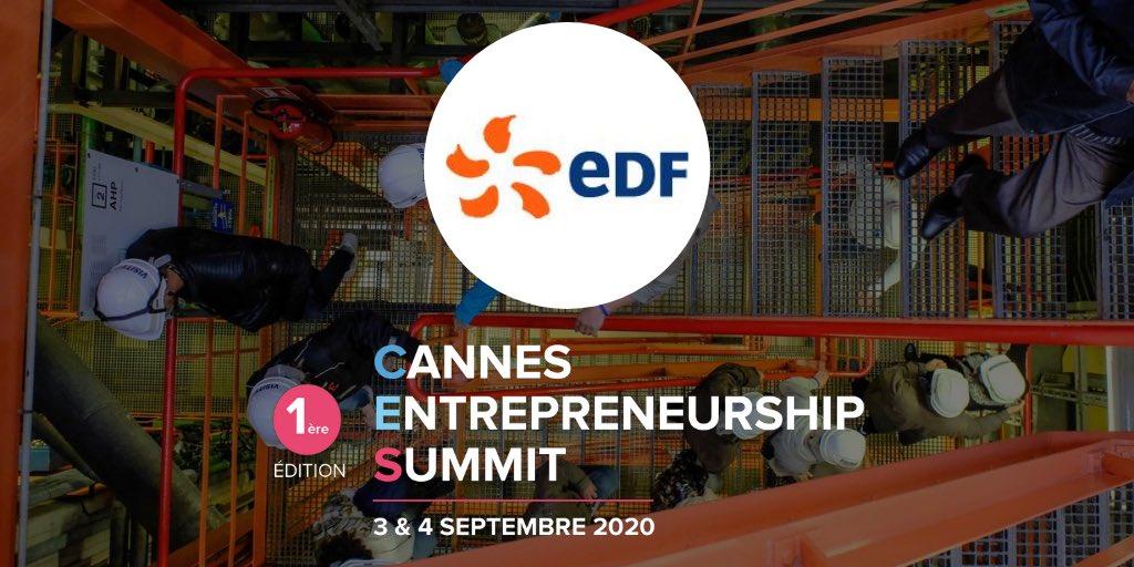 Merci à @EDFofficiel de sponsoriser l'événement #CannesEntrepreneurshipSummit ! Leur objectif principal : développer l'énergie 💡 avec des solutions et services innovants neutres en CO2. Tu veux en savoir plus sur le #CES2020 ? 👉https://t.co/1T8TSOiswU #Sponsor #Energie #StartUp https://t.co/HENWfiSf99