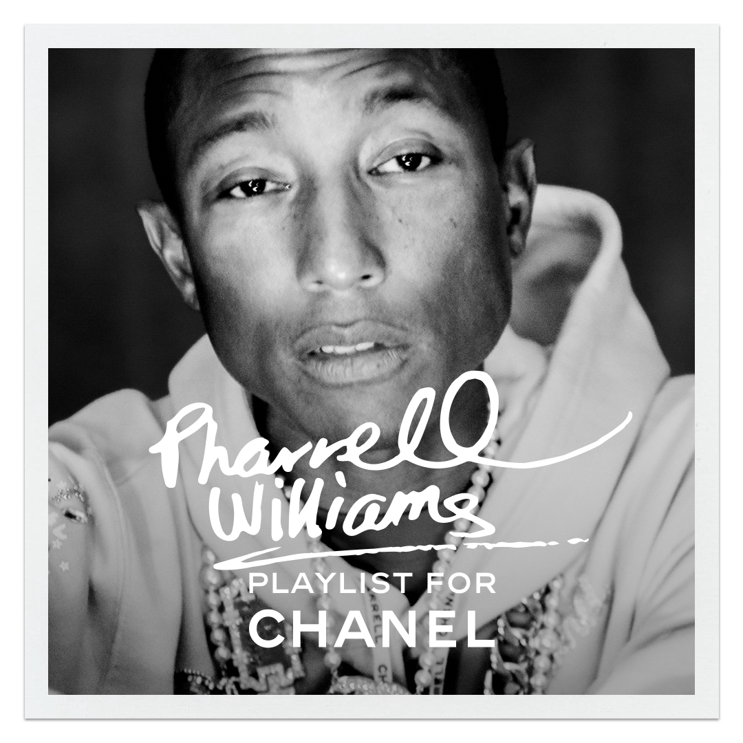 Listen to Pharrell Williams' playlist refresh for CHANEL. Now playing on Apple Music. https://t.co/fqQe3Pr9Fy #TheSoundofCHANEL  @AppleMusic https://t.co/pma1z7ZW4o