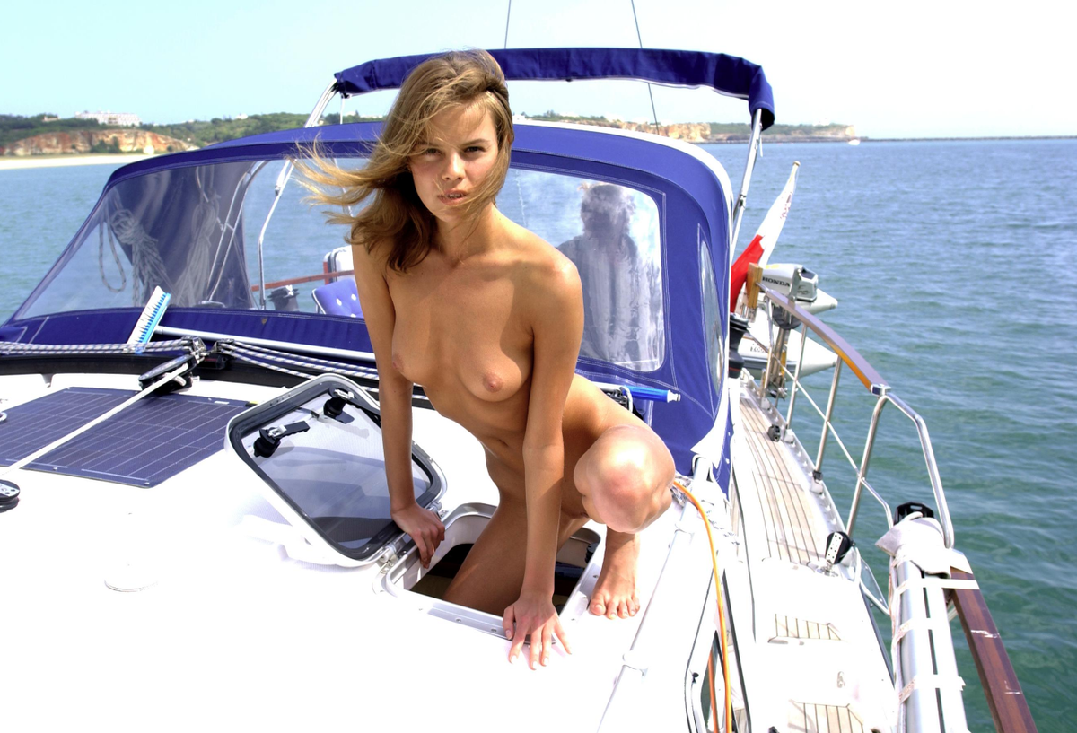 Topless girls on boats