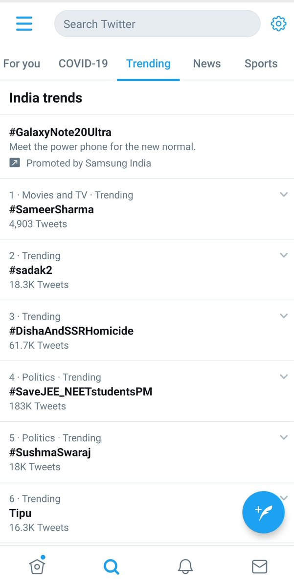 Come on guys let's pin it up to number 1 #Trending #SaveJEE_NEETstudentsPMpic.twitter.com/ywlggv4KP8