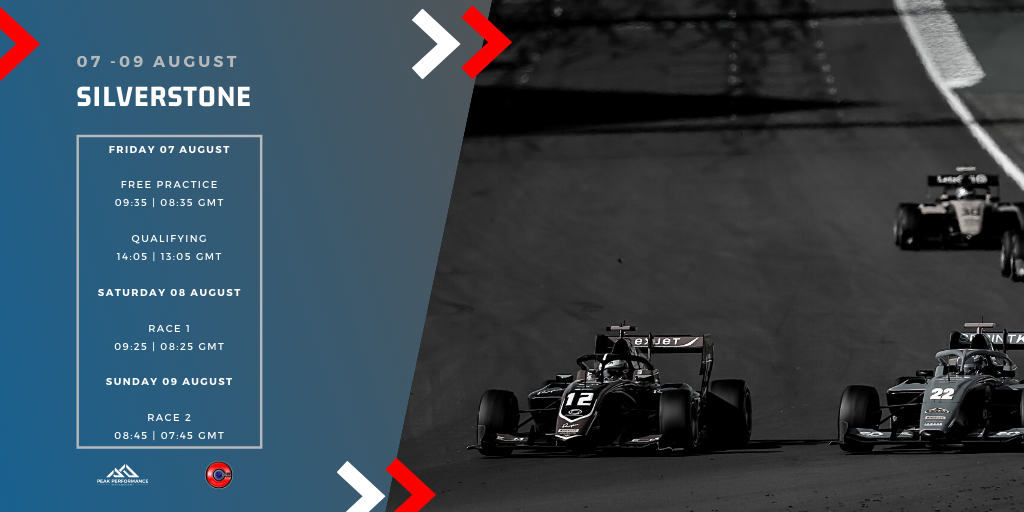 Are you ready for Silverstone Pt.2?   Check out this weekend's schedule for all the track action  ⬇  To follow Free Practice, Qualifying and the Race click here: https://t.co/w9mwgbPUwF    #F170 #BritishGP #F3 https://t.co/FrHlPrOsRu