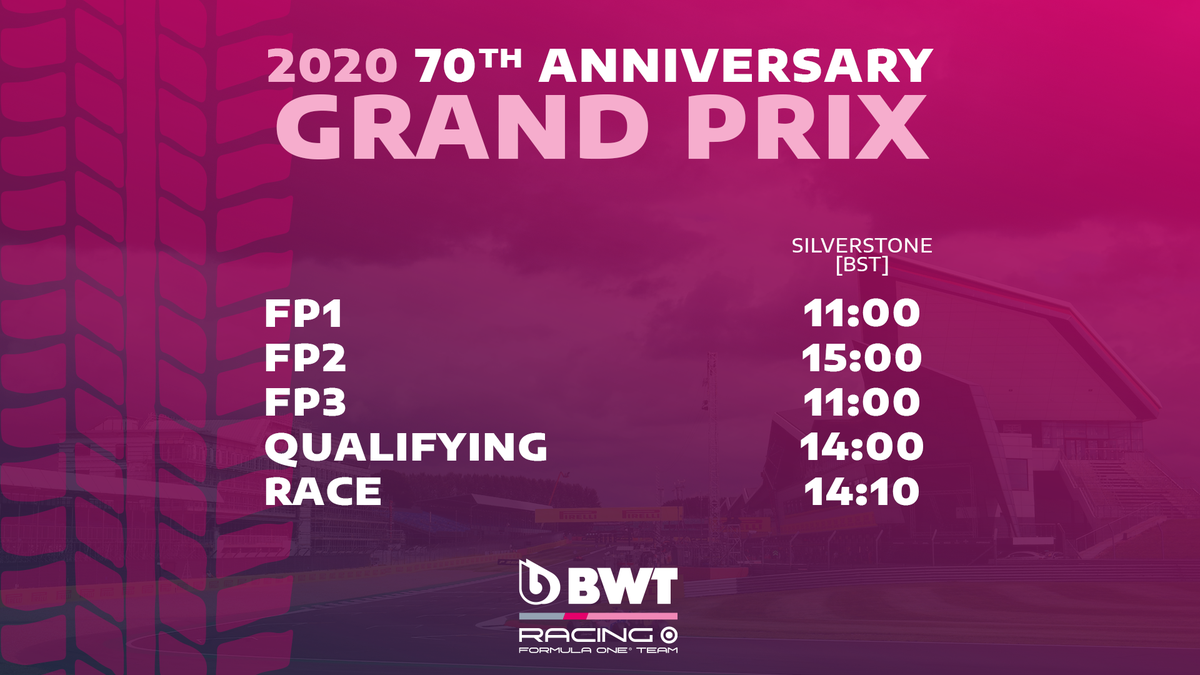 🕑 It's a similar look this weekend, but in case you need it, here's your handy guide to the session times for the 70th Anniversary GP at @SilverstoneUK 🇬🇧  #F1 #F170 https://t.co/Te9KPdoeXC