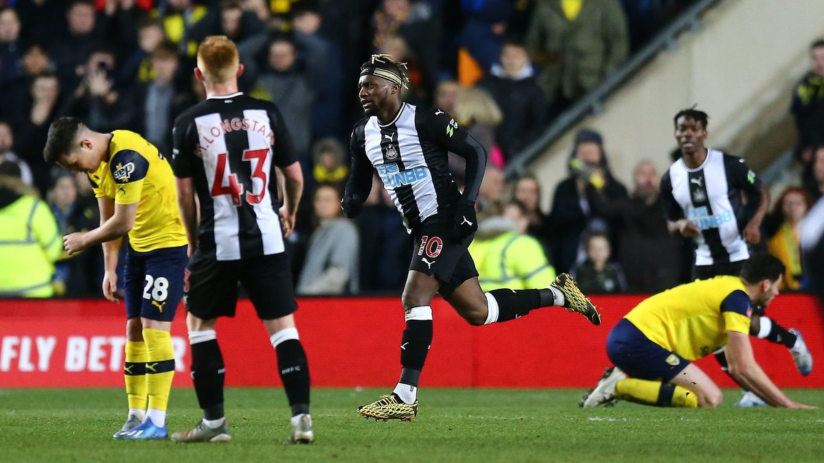 Allan Saint-Maximin scored a LATE winner to break Oxford United hearts and send @NUFC through to the next stage of the competition 🔥