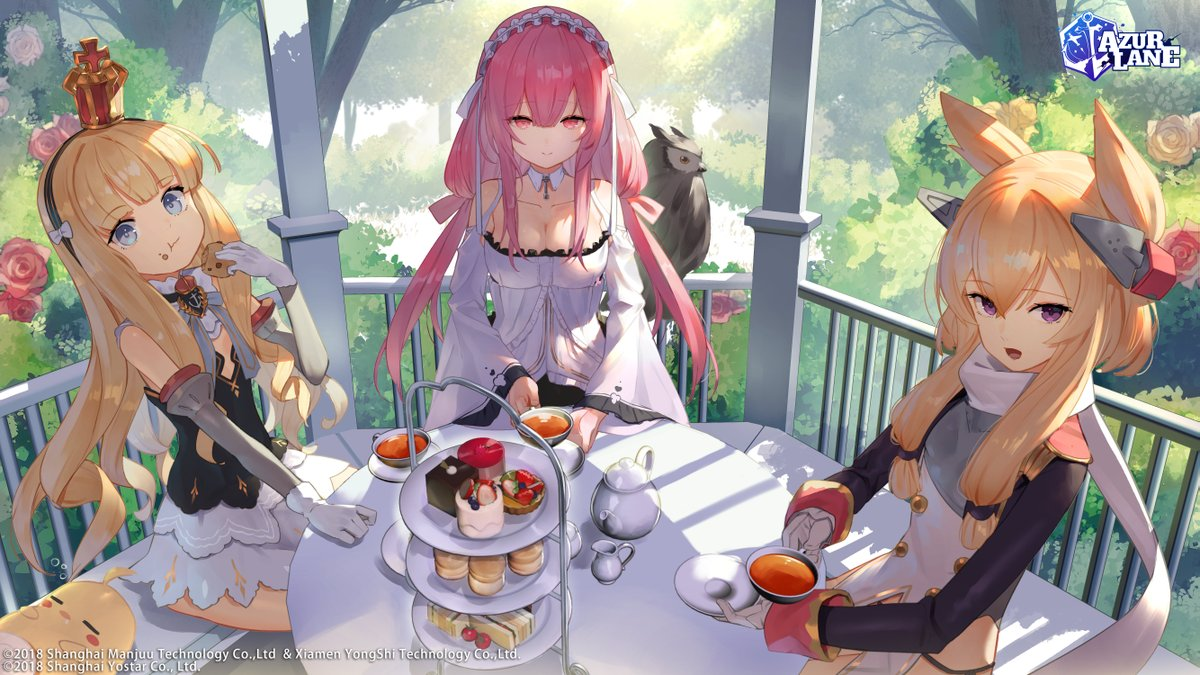 Azur Lane Official On Twitter Aurora Noctis Event Is Ongoing Commander Would You Care For Some Tea With Perseus Queen Elizabeth And Warspite Thanks To The Artist スコッティ Sco Ttie For Creating This