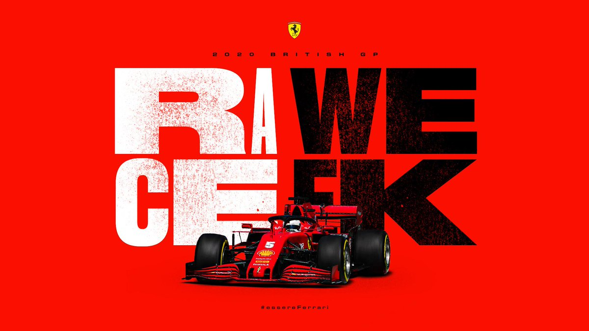 "It's ""RAWE CEEK"" this weekend. FP1 & FP2 tomorrow. FP3 & Qualifying on Saturday. Race on Sunday. #F1 #Formula1 #BritishGP #Silverstone https://t.co/bIqerG1hgX"