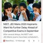 Image for the Tweet beginning: #SaveJEE_NEETstudentsPM #FakeNews not even 1% students