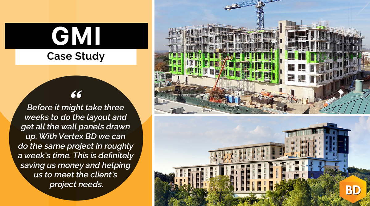 CASE STUDY: GMI   To increase efficiency, GMI wanted to automate some of their process in #panelization and #prefabrication of walls. They implemented #VertexBD software to help manipulate the panels to better suit how we were going to fabricate them...https://bit.ly/2DyDdc5 pic.twitter.com/eWTy8Fm1vp