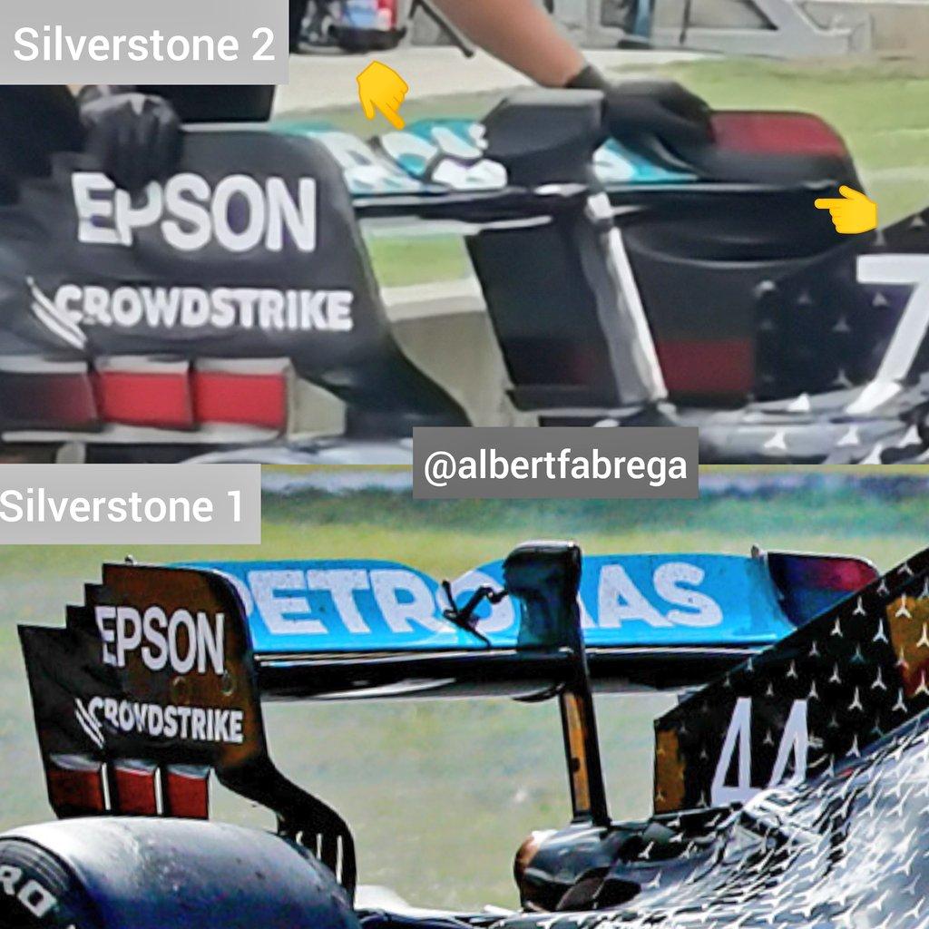 Esta ala posterior de Mercedes debe ser test para Spa o Monza...no??  This Mercedes rear wing must be a test for Spa or Monza... Right??? https://t.co/9qKKRHoN9d