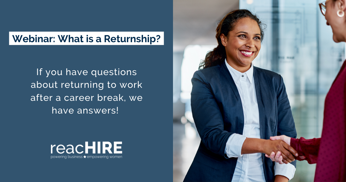 """In the webinar """"What is a Returnship?"""" our #ReturntoWork experts covered our top 5 tips for successfully re-entering the workforce, and we heard from @Fidelity RESUME program graduate Pavani about her #Returnship journey. Watch the webinar replay: http://ow.ly/z7TJ50ARxhgpic.twitter.com/lC3frbcOhO"""