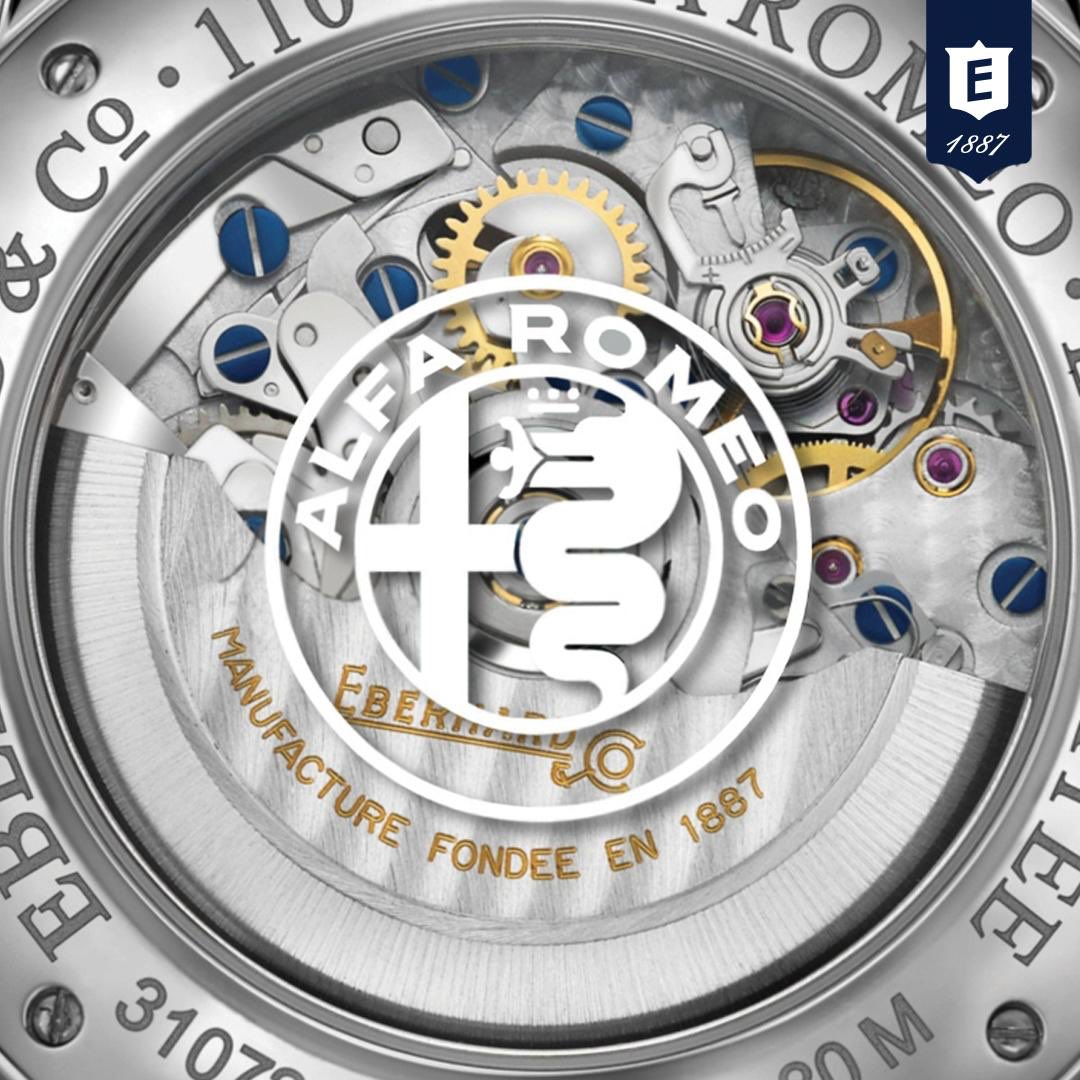EBERHARD & CO. CELEBRATES THE 110th ANNIVERSARY OF ALFA ROMEO WITH A NEW LIMITED EDITION TIMEPIECE. Stay Tuned! #eberhard #swiss #watches since 1887 #limitededition #alfaromeo #chronograph #StayTuned #chrono110thanniversary #watch #sportcar #passion #car #racepic.twitter.com/p0cmqFcuRL