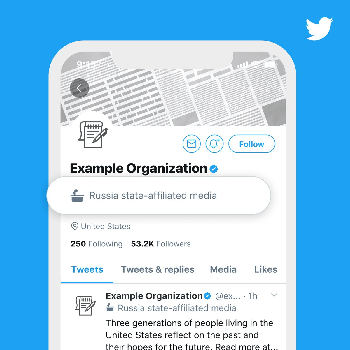 """In short, if you're a #LocalGov or state government agency account in the US, don't anticipate any changes. If you're a governor/mayor/other elected official, the """"government account"""" label (on the left below) may appear on your profile as Twitter slowly rolls this out."""