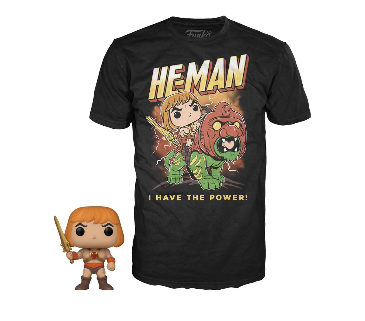Preorder Now: XL GITD He-Man Pop and Tee! #funko #ad .