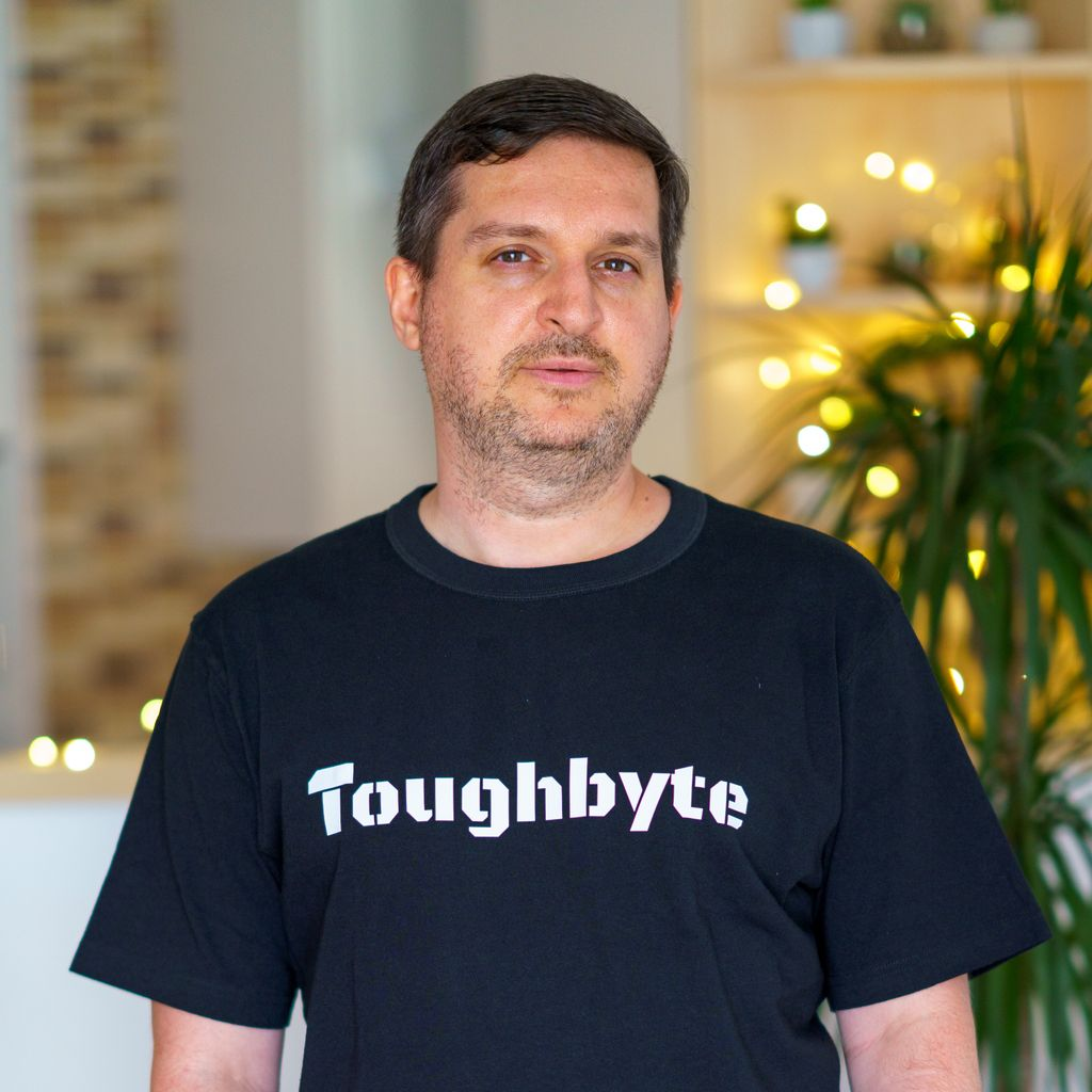 Unfortunately not many of us are traveling at the moment, but our t-shirts have been. Here's one that reached Peter, a C++ developer from Budapest. #toughbyte #recruitment #hungary pic.twitter.com/tAYzQ55kW9