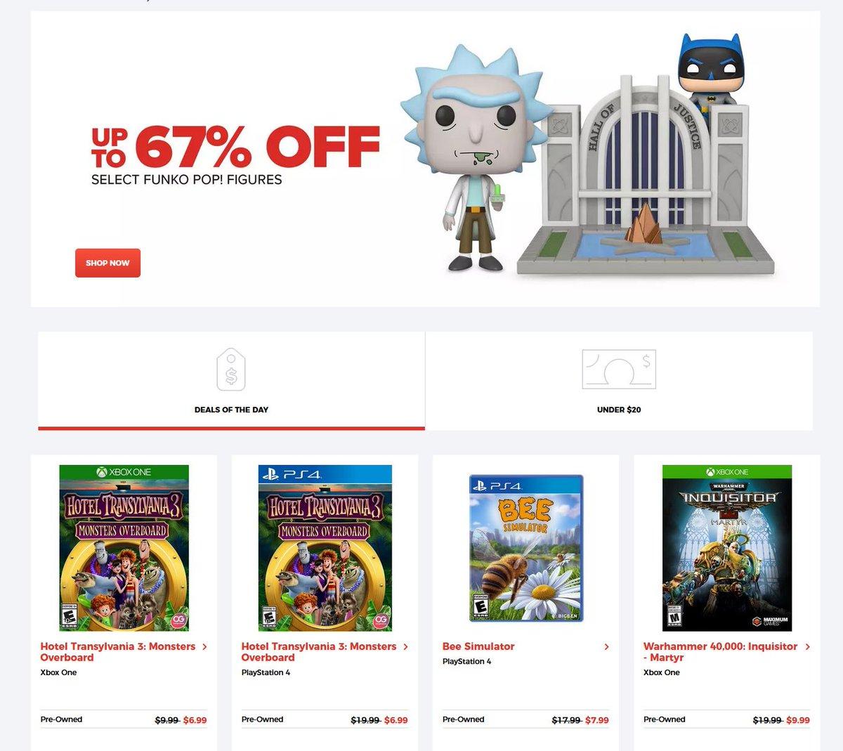 Deals of the Day via GameStop. 2
