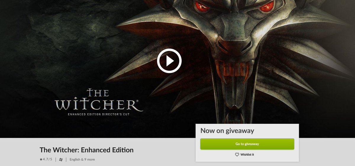 (PCDD) The Witcher: Enhanced Edition is Free via GOG. 2